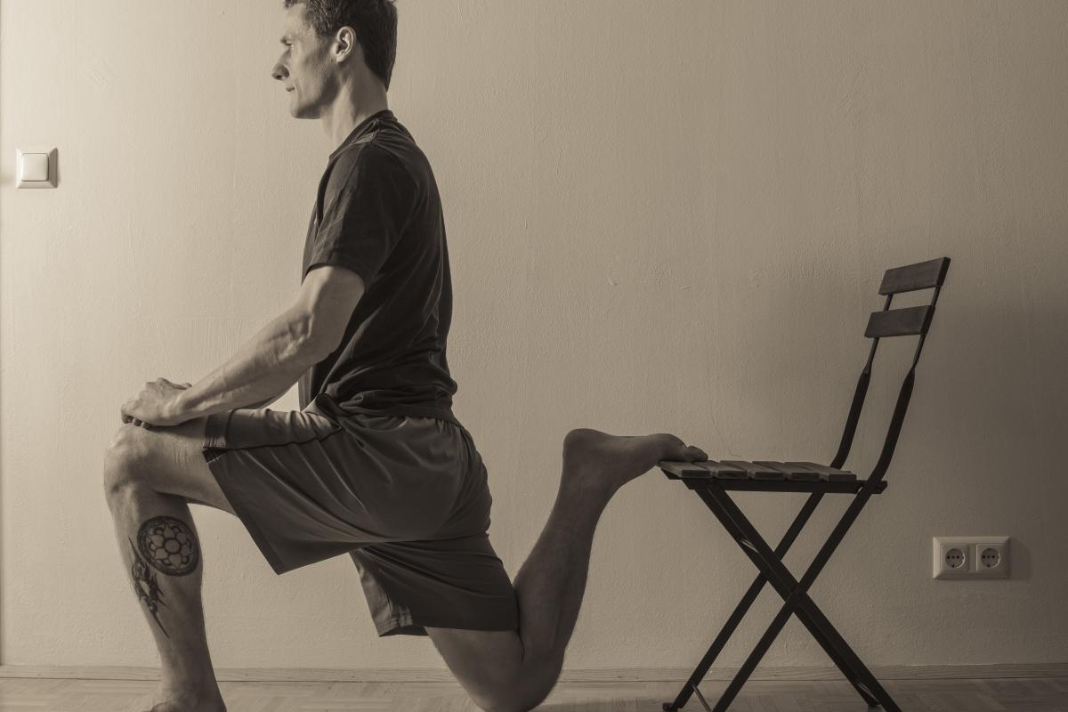 Schmerzen in der Hüfte Übung