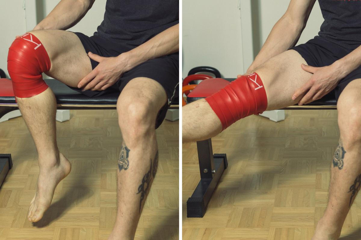 Flossing Kniegelenk beugen strecken
