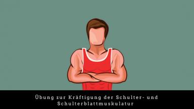 Schulterübung auf dem Gymnastikball
